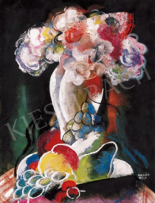 Kádár Béla - Virágcsendélet gyümölcsökkel | 22. Aukció aukció / 31 tétel