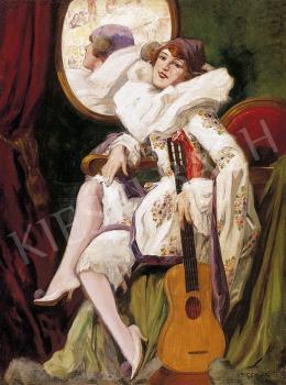 Geiger, Richárd - Pierrot with a Guitar
