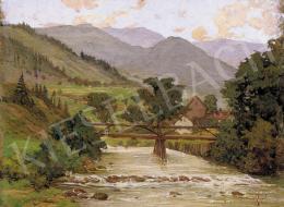Basch Árpád - Falu vége fahíddal