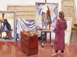 Duray Tibor - Műteremben