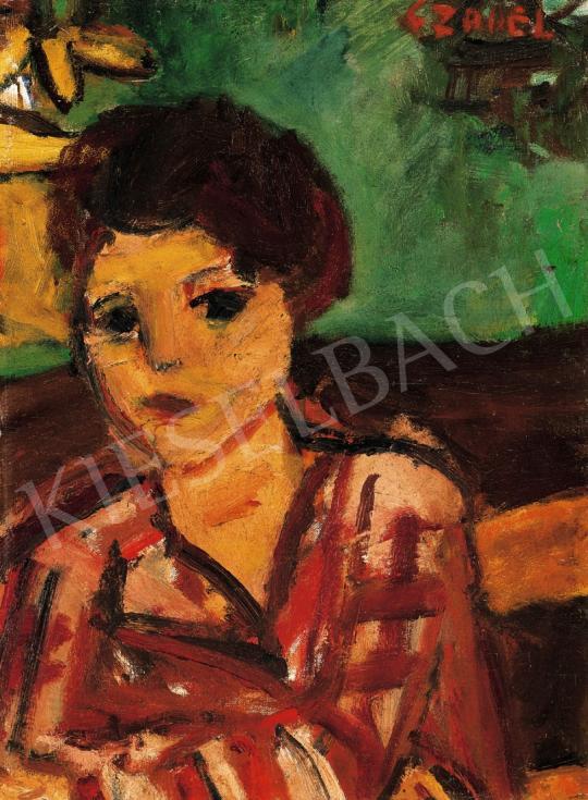Czóbel Béla - Lány zöld szobában   22. Aukció aukció / 40 tétel