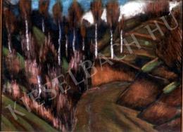 Nagy István - Nyírfás táj (1928 körül)