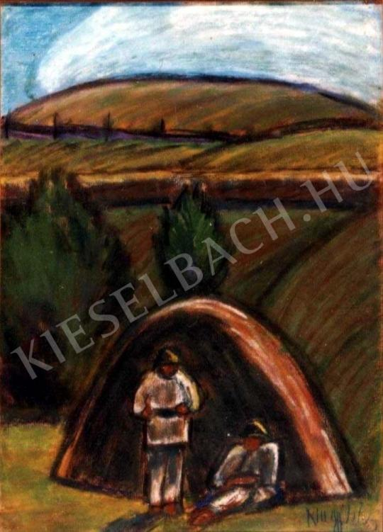 Nagy István - Pihenők festménye