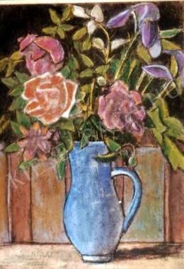 Nagy István - Virágog kék kancsóban