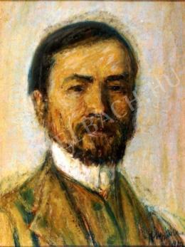 Nagy István - Bajuszos, szakállas önarckép (1913)