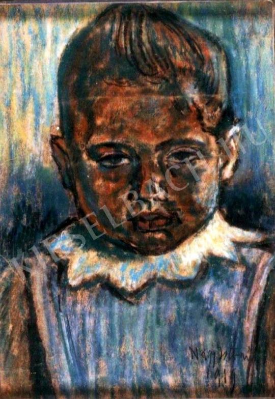 Nagy István - Cakkos gallerú kisgyermek festménye