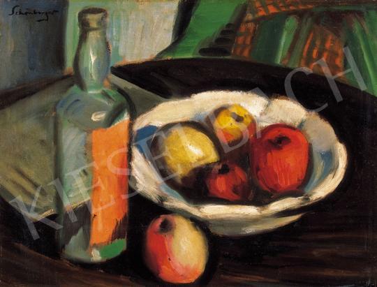 Schönberger Armand - Csendélet almákkal és üveggel | 22. Aukció aukció / 47 tétel