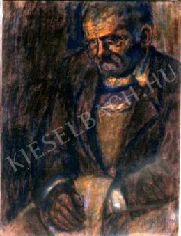 Nagy István - Kucsmáját tartó öreg székely
