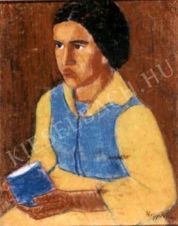 Nagy István - Nő bögrével (Sárgaruhás lány) (1930-1935 körül)