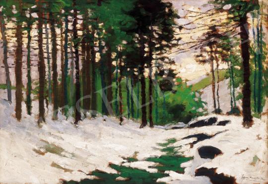 Szepesi Kuszka, Jenő - Snowy Pine Forest | 22. Auction auction / 49 Item