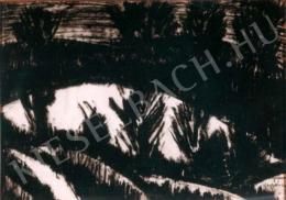 Nagy István - Erdélyi havas táj (1928 körül)