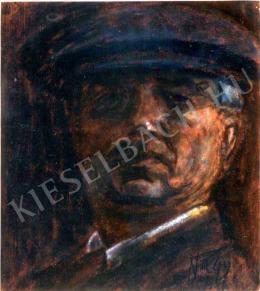 Nagy István - Svájci sapkás önarckép (1925)