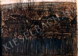 Nagy István - Őszi táj kerítéssel