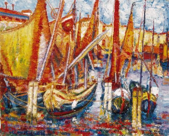 Vén Emil - Kikötő | 25. Aukció aukció / 2 tétel