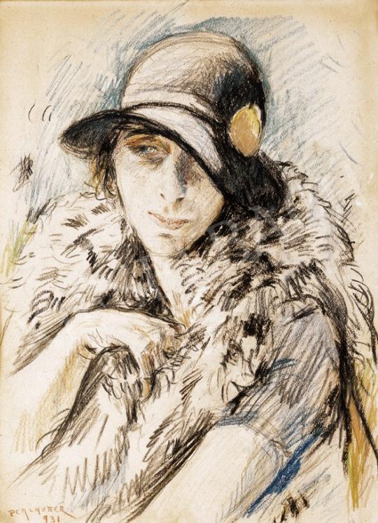 Perlmutter Izsák - Kalapos hölgy | 25. Aukció aukció / 9 tétel