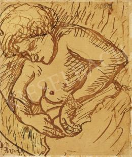 Rippl-Rónai József - Női akt (Fürdő után)