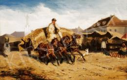 Bensa, Alexander von - At the Market Place in Szolnok