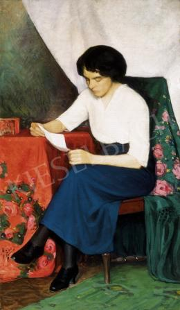 Szopos Sándor - Olvasó nő