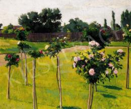 Kléh János - Szolnoki kert rózsákkal