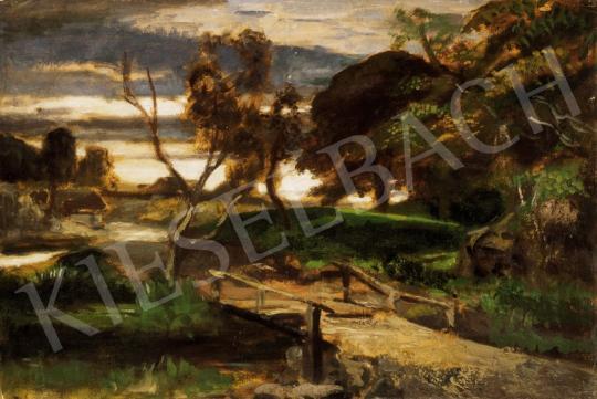 Székely Bertalan - Alkonyi fények a szadai parkban | 25. Aukció aukció / 37 tétel