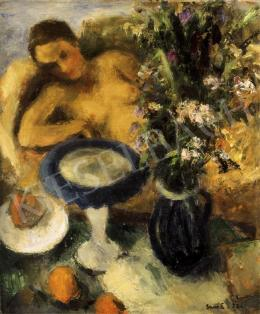 Vass, Elemér - Studio Scene with a Nude
