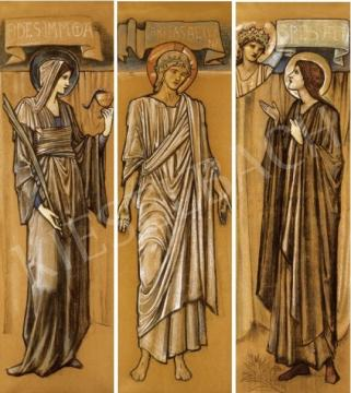 Sir Burne-Jones, Edward Coley - Triptichon - Örök jóság, Örök hűség, Örök remény | 25. Aukció aukció / 46 tétel