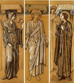 Sir Burne-Jones, Edward Coley - Triptich  - Faith, Hope, Charity