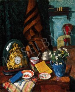 Ziffer Sándor - Csendélet a művész nagybányai házában (1912)