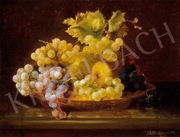 Ujházy, Ferenc - Still-Life of Grapes