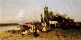 Böhm Pál - Folyóparti jelenet