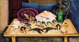 Vörös, Géza - Still - Life with a Shell (Mushroom and Crabs), 1934