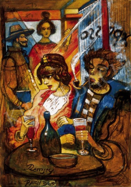Remsey Jenő György - Párizsi kávéházban   25. Aukció aukció / 86 tétel