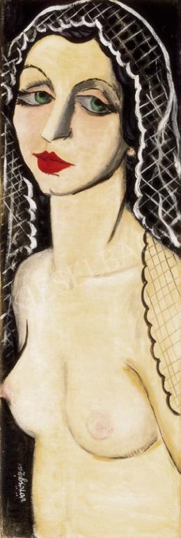 Vörös, Géza - Nude with a Veil