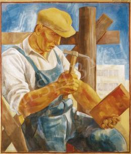 Gábor, Jenő - Bricklayer in 2:1 proportion (Country-Building Bricklayers I.)