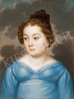 Donát János - Fiatal lány kék empire ruhában