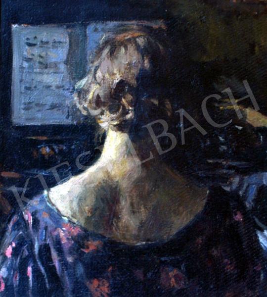 Perlmutter Izsák - Hölgy zongoránál | 25. Aukció aukció / 174a tétel