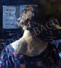 Perlmutter Izsák - Hölgy zongoránál
