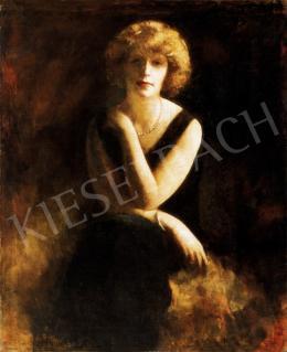 Hatvany Ferenc - Hölgy gyöngysorral