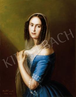 Marastoni Jakab - Fiatal nő kék ruhában