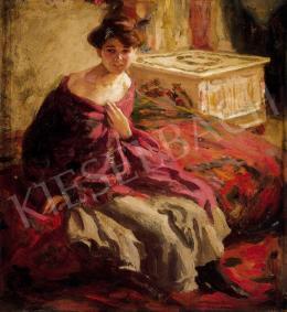 Perlmutter Izsák - Nő szobában