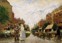 Berkes, Antal - The flower Market in Hague