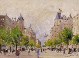 Berkes, Antal - Parisian Street with Walkers
