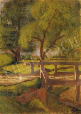 Rippl-Rónai, József - Landscape in Somodor with a Bridge