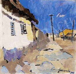 Nagy Oszkár - Kék égbolt fehér házzal