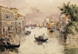 Koszkol Jenő - Velencei részlet gondolákkal