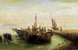 Ismeretlen festő, 19. század vége - Olasz tengeri jelenet