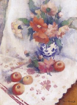 Pécsi-Pilch Dezső - Csendélet almákkal