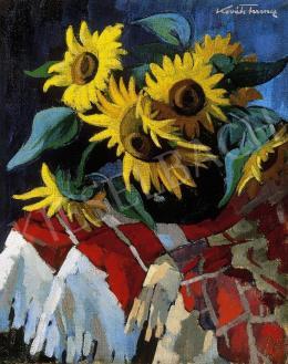 P. Kováts, Ferenc - Still Life of Sunflowers