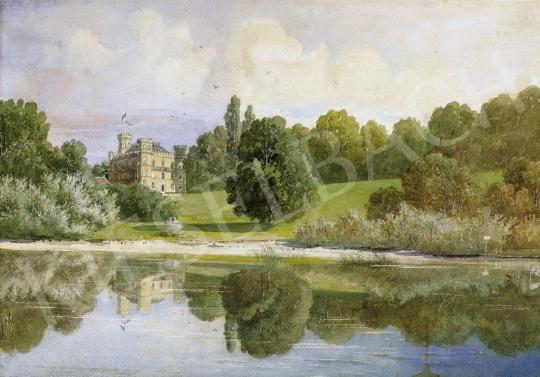 Signed Alfons Sporrer - Lakeside Landscape with a Castle | 4th Auction auction / 50 Item