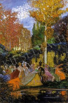 Márk Lajos - Jelmezbál a parkban   4. Aukció aukció / 54 tétel